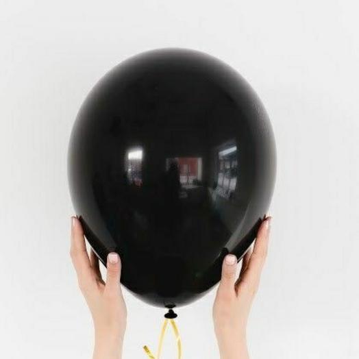 """Воздушный шар латексный""""Чёрный"""""""
