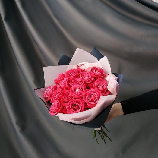 """Букет""""15 малиновых роз"""""""