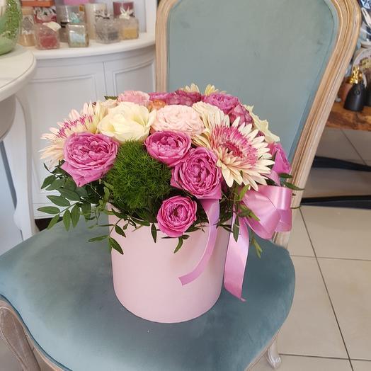 """Цветы в коробке """"Чистое сердце"""""""