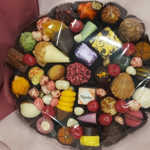 Букет из конфет ручной работы FRENCH KISS SPB 200213.1