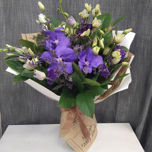 Букет с орхидеей ,,Ванда