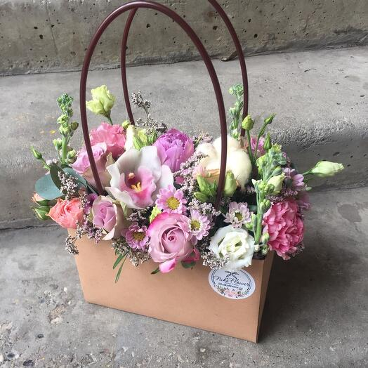 Сумочка цветочная