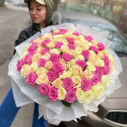 101 нежная Роза микс