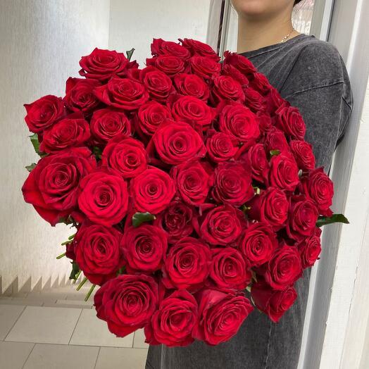 51 алая Роза 65 см