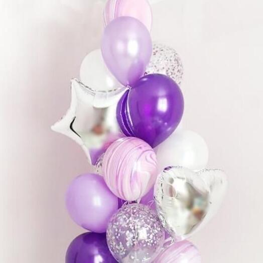 Воздушные шары Сиреневый фонтан