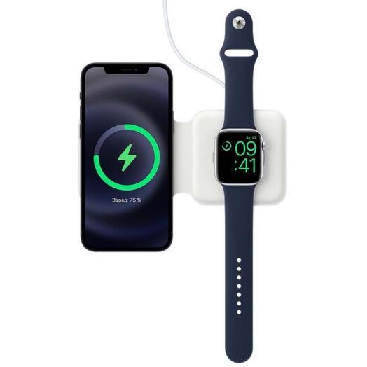 Беспроводное зарядное устройство Apple MagSafe Duo White