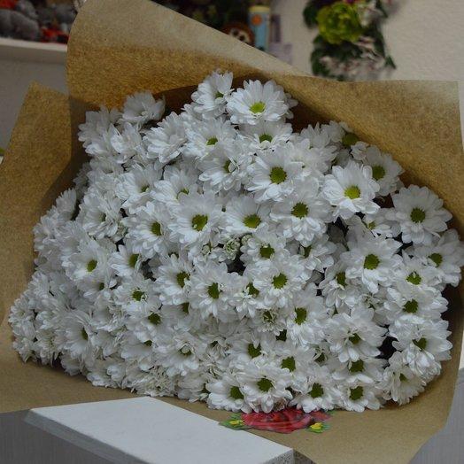 Букет из ромашковых хрезантем: букеты цветов на заказ Flowwow
