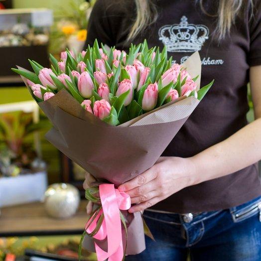 Букет розовых тюльпанов Аллегро