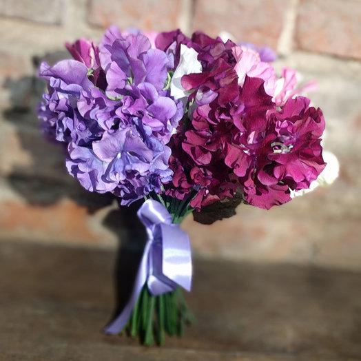 A bouquet of sweet peas: flowers to order Flowwow