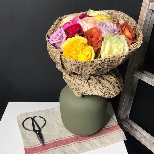 15  Французских садовых роз: букеты цветов на заказ Flowwow