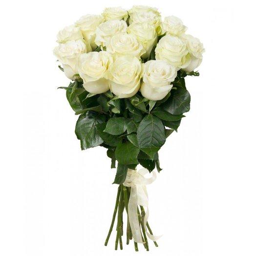 Букет 15 белых роз 90 см: букеты цветов на заказ Flowwow