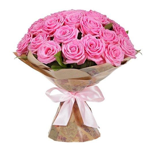 """Букет из 21 розовой розы """"Шепот"""""""