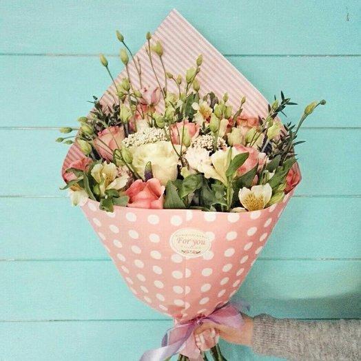 Нежно - розовый букет : букеты цветов на заказ Flowwow