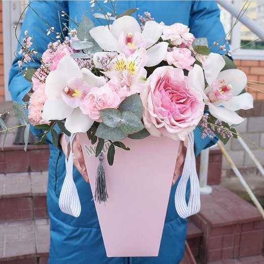 """Аквапак """"Розоая мечта"""": букеты цветов на заказ Flowwow"""