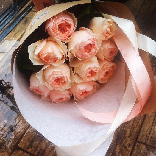 """Букет из 11 английских роз """"Джульетта"""": букеты цветов на заказ Flowwow"""