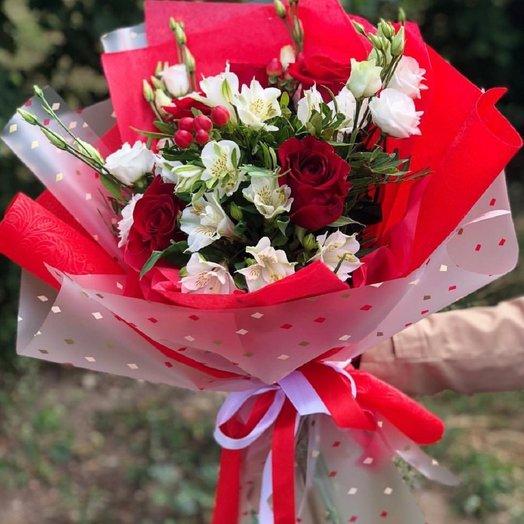 Страстное чувство - Сборный букет: букеты цветов на заказ Flowwow