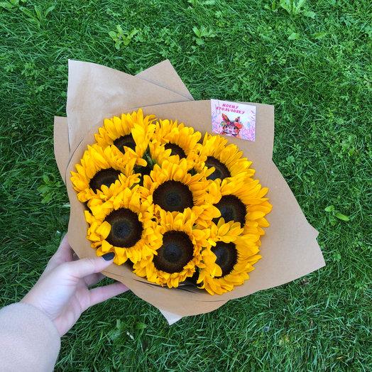 Подсолнухи с полянки: букеты цветов на заказ Flowwow