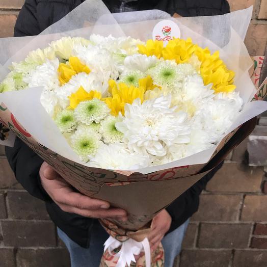 Букет «Лето» из 19 веточек кустовых хризантем: букеты цветов на заказ Flowwow