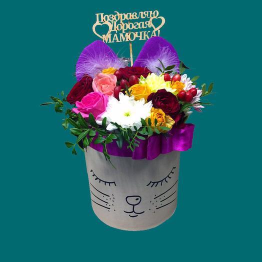Киса для Мамочки: букеты цветов на заказ Flowwow