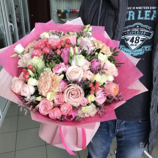 Сборный букет «Зефирные облака»: букеты цветов на заказ Flowwow