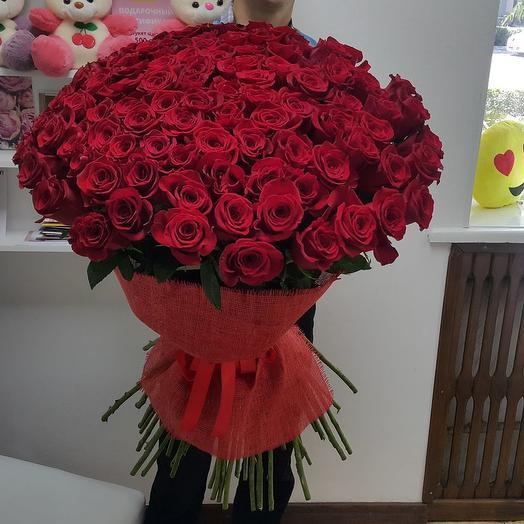 101 роза 90 см