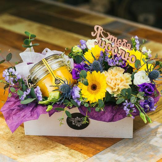 Медовый рассвет: букеты цветов на заказ Flowwow