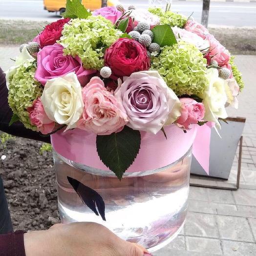 Цветочный аквариум: букеты цветов на заказ Flowwow