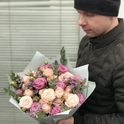 Розовый момент: букеты цветов на заказ Flowwow