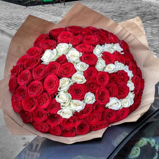 Букет из цифры 25 роз спб