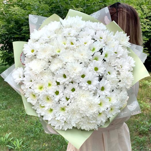 Охапка кустовых хризантем: букеты цветов на заказ Flowwow