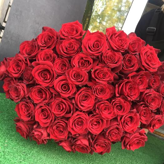 Страстный красный. 51 роза