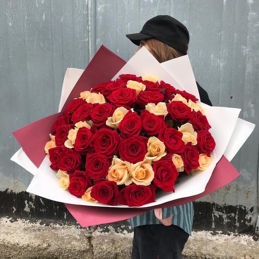 """51 роза """"Великолепие"""