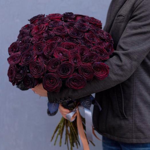 """Букет """"Блэк Бакара"""" Large: букеты цветов на заказ Flowwow"""