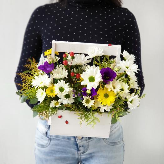 Летний ящичек с цветами