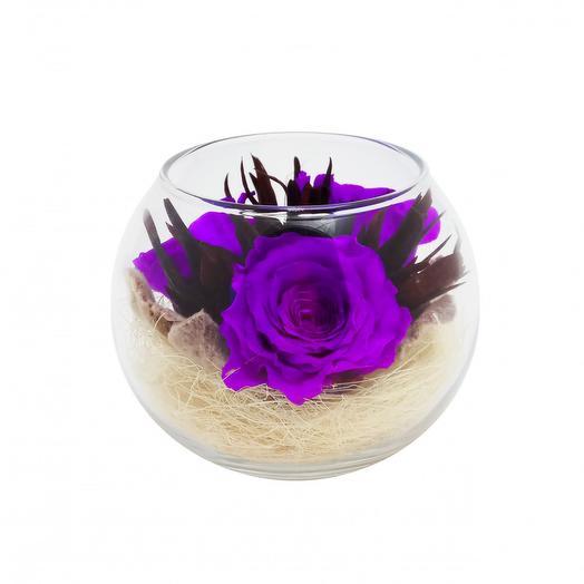 РОЗА ИЗ МЫЛА. Сиреневый вечер: букеты цветов на заказ Flowwow