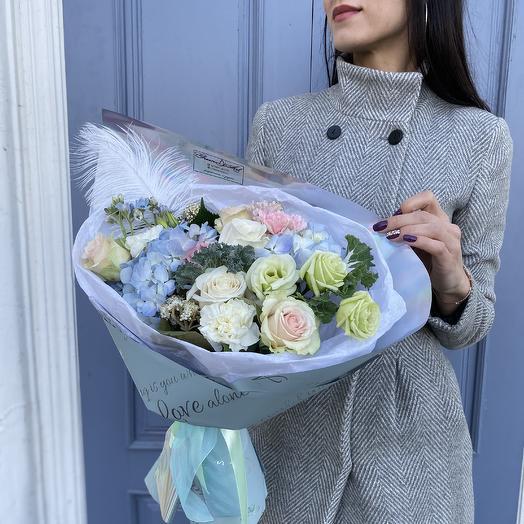 С зимними нотками: букеты цветов на заказ Flowwow