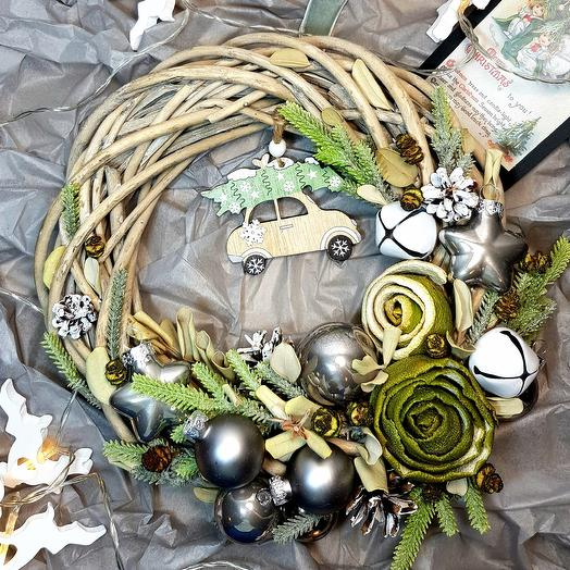 """Венок рождественский """" Оливка"""": букеты цветов на заказ Flowwow"""