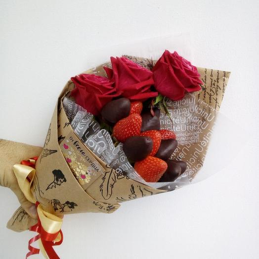 Вкусная клубника: букеты цветов на заказ Flowwow