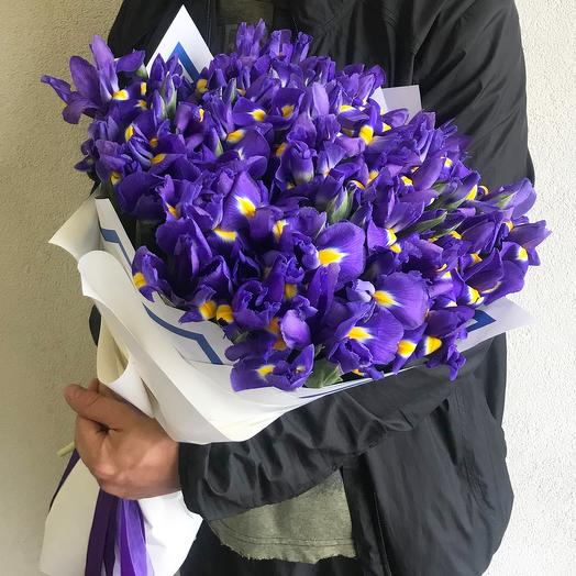 "Букет из 45 ирисов ""Blue magic"": букеты цветов на заказ Flowwow"