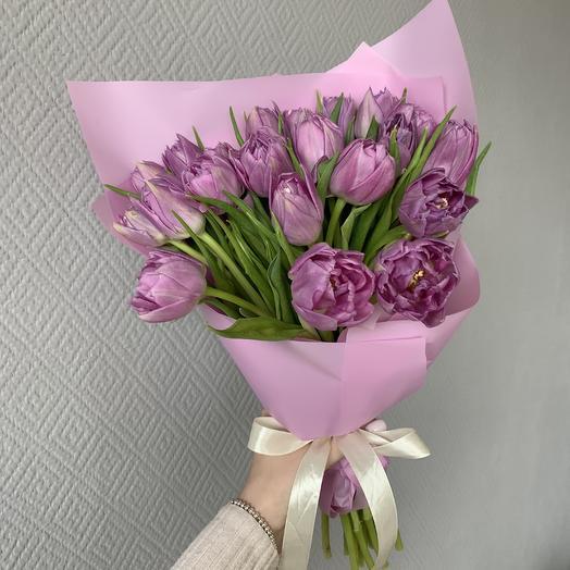 Букет из 17 пионовидного тюльпана: букеты цветов на заказ Flowwow
