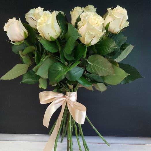 Роза талея 60 см, 7 шт. в крафте