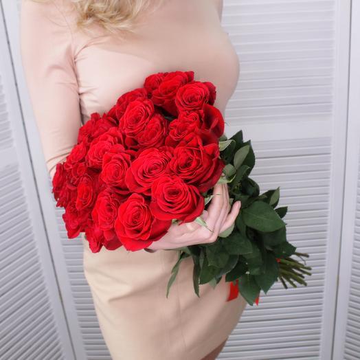 25 роз Премиум Эквадор 60 см
