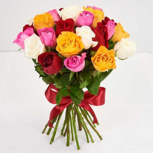 Охапка из кенийских роз(25 шт)