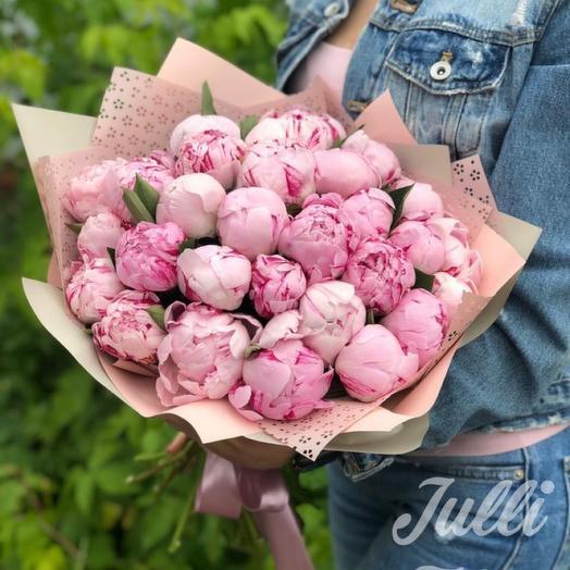 Пионы розовые 27шт