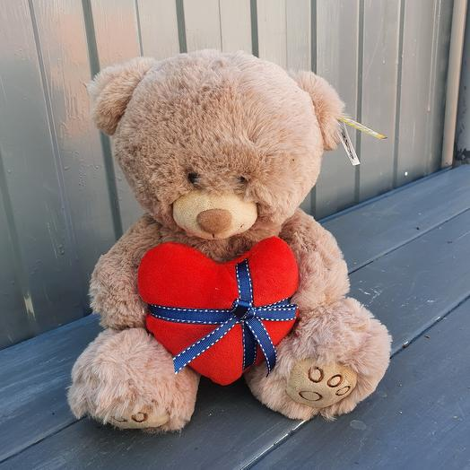 Медведь мягкий с сердцем 2