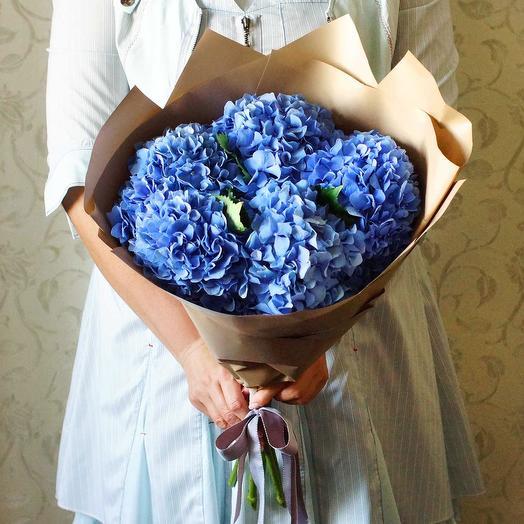 Букет синей Гортензии
