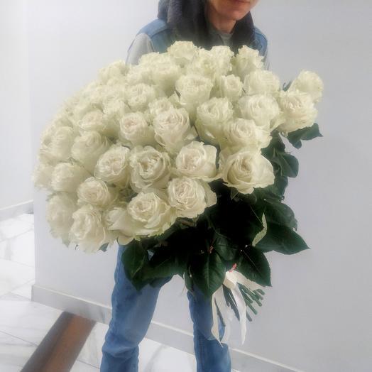 Большой букет из 51 эквадорской розы 70 см