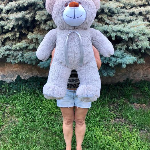 Плюшевий ведмедик 100 см сірий