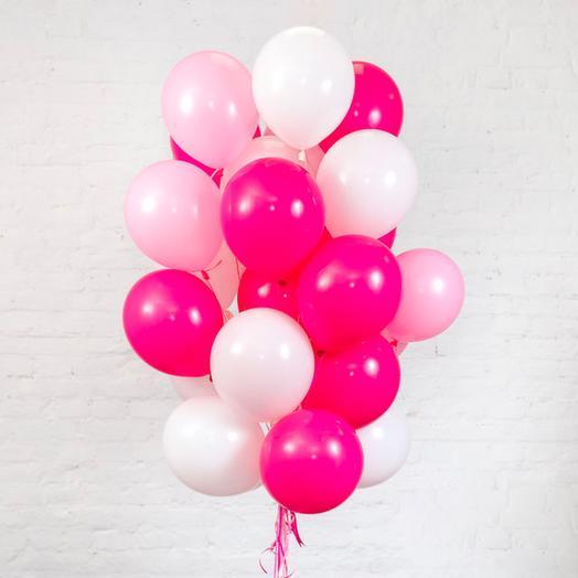 25 helium balloons