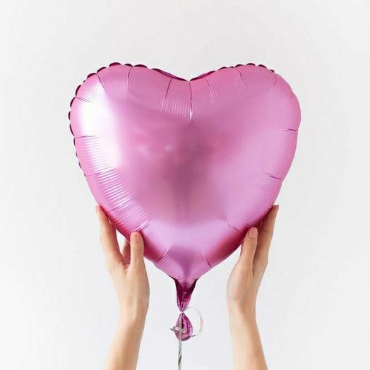 "Фольгированный шар сердце""Фламинго"""